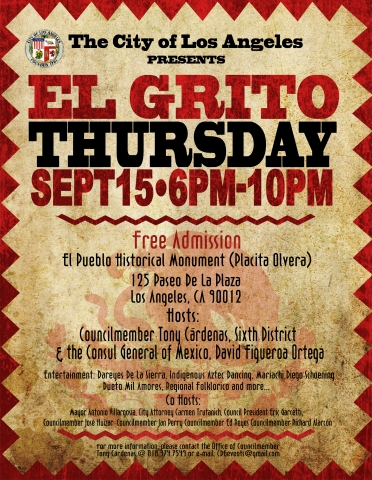 El-Grito Flyer Design City of Los Angeles / Counsel Member Tony Cardenas