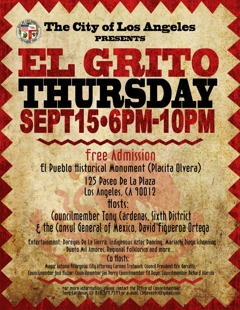 El Grito Flyer - City of Los Angeles