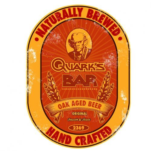 Quark's Bar Label  Designed at Creation Entertainment