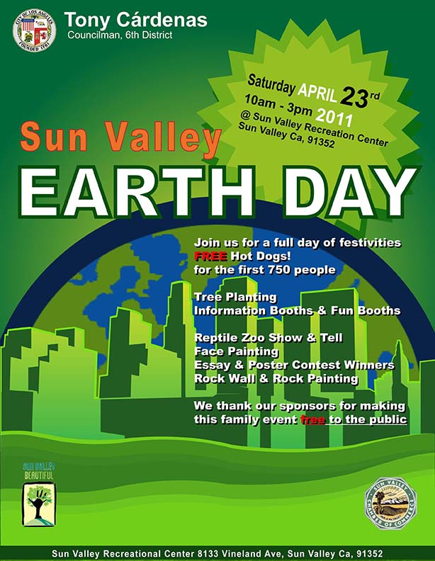 Earthday flyer - City Of Los Angeles