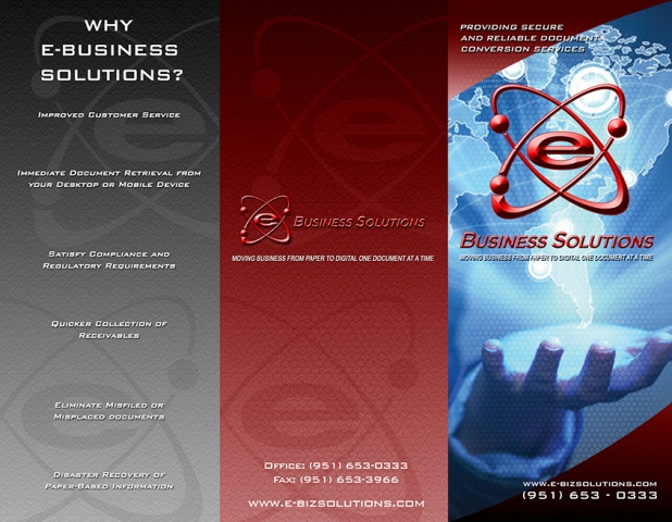 e-Biz Solutions brochure Project