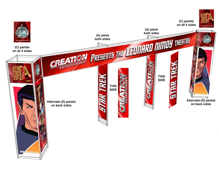Star Trek  3D Spock Theater Entrance Unit Convention Display Comp Designed at Creation Entertainment
