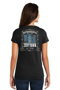 Official Supernatural T-shirt Design Backside