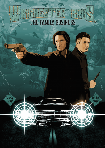 Supernatural Winchester Bros Poster Art Designed at Creation Entertainment