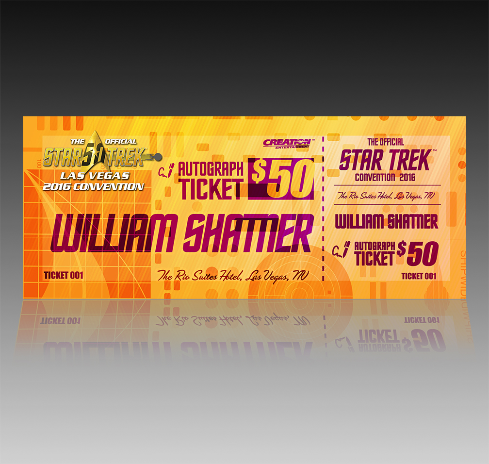 Star Trek 50th Ticket-Design