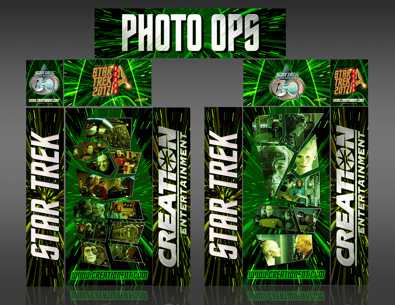 Star Trek Borg Theater Entrance Unit Convention Display Designed at Creation Entertainment