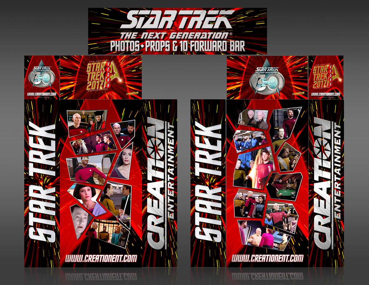 Star Trek TNG Theater Entrance Unit Convention Display Designed at Creation Entertainment