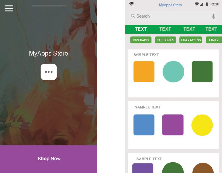 MyApp Mockup-mockup Created in Sketch :Self promotion