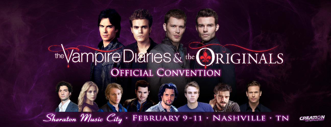 Vampire and The Originals Convention Banner Designed at Creation Entertainment
