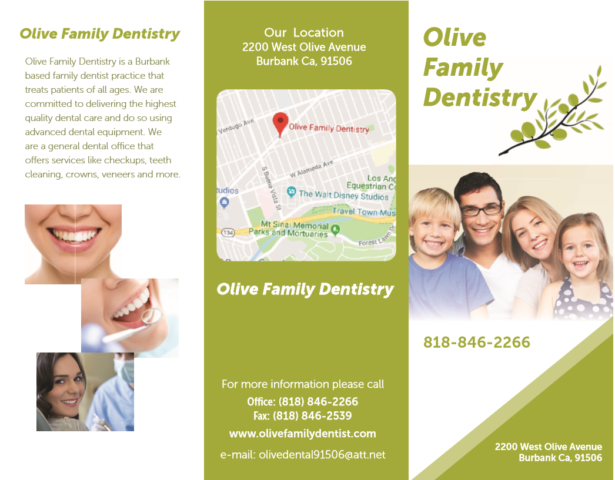 Olive Family Denistry Brochure