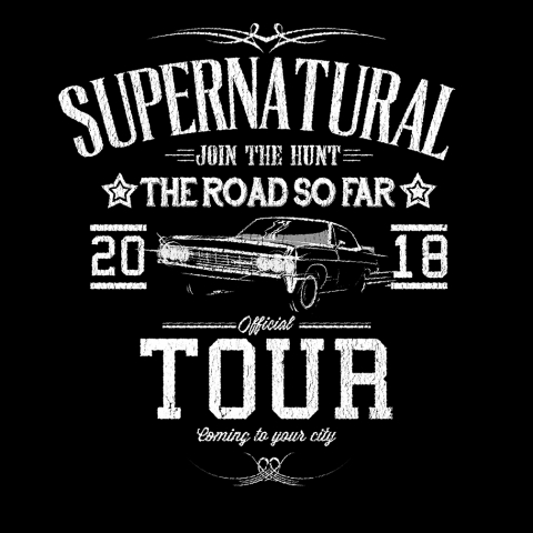 Supernatural Tour T-shirt Designed at Creation Entertainment