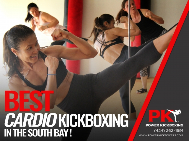 PowerKickboxing Window Display Advertisement